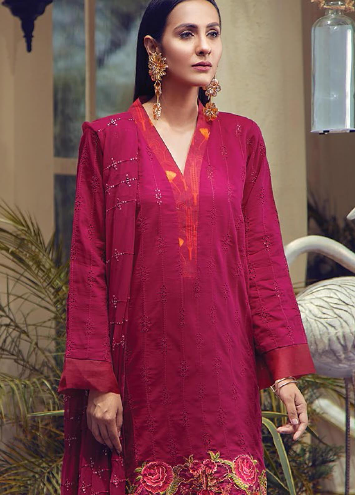 RajBari Embroidered Jacquard Unstitched 3 Piece Suit RB19F 5A - Festive Collection