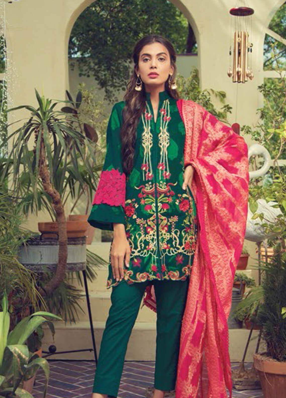RajBari Embroidered Jacquard Unstitched 3 Piece Suit RB19F 6A - Festive Collection