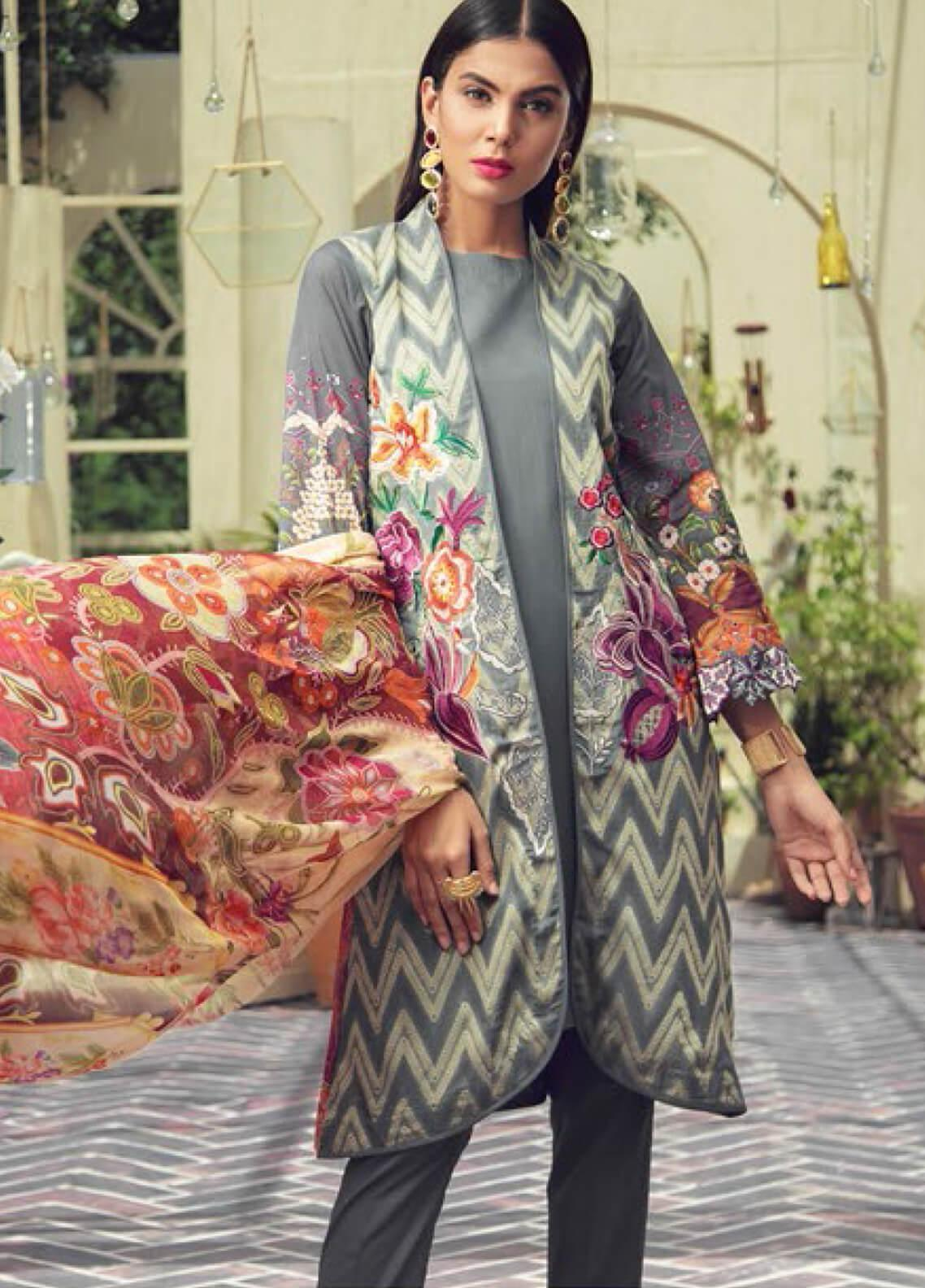 f055c75d95 RajBari Embroidered Jacquard Unstitched 3 Piece Suit RB19F 7A - Festive  Collection