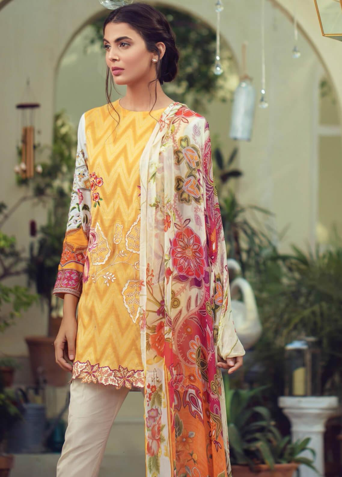 RajBari Embroidered Jacquard Unstitched 3 Piece Suit RB19F 7B - Festive Collection