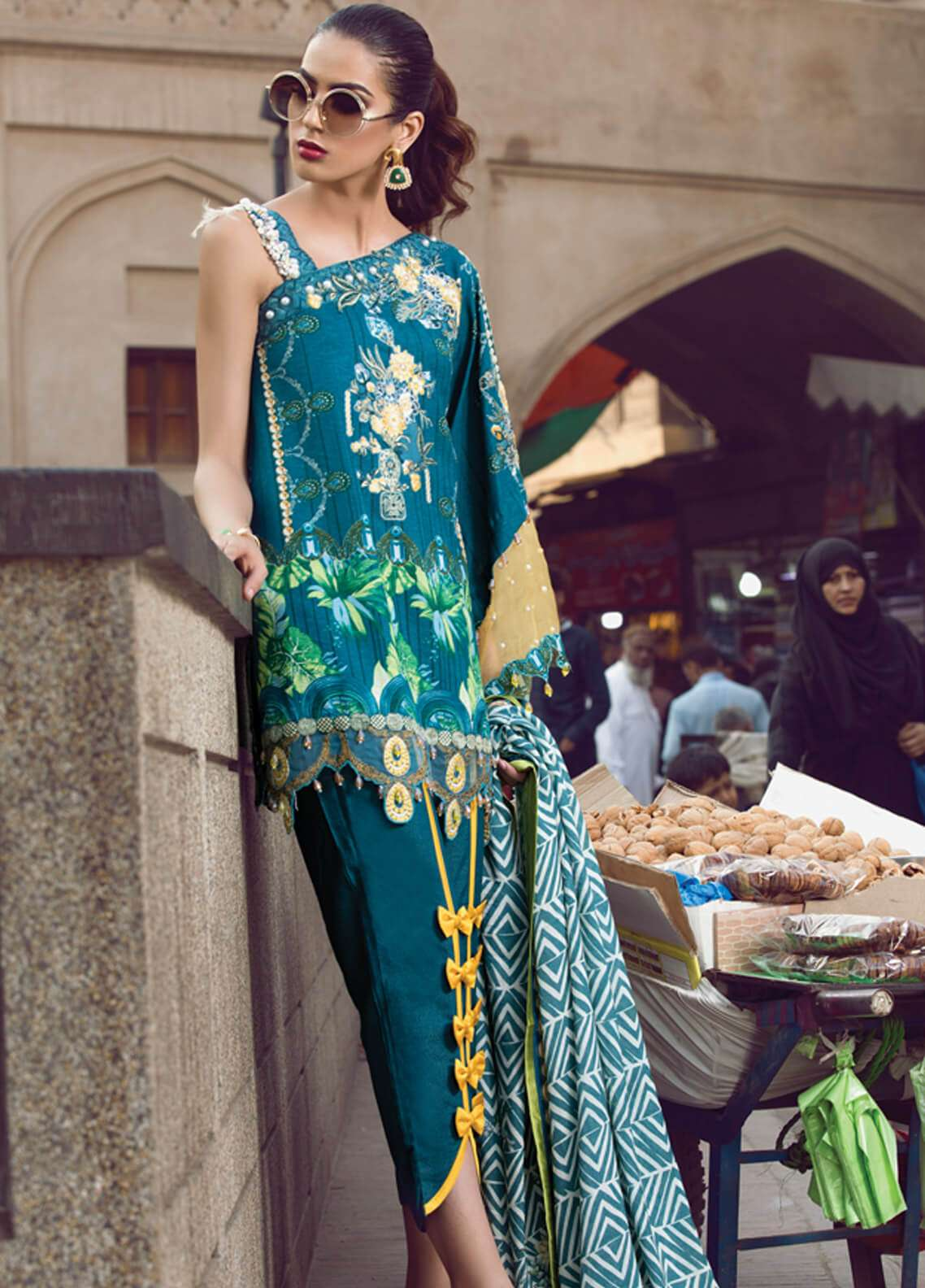 Rang Rasiya Embroidered Viscose Unstitched 3 Piece Suit RR18W 3002B - Winter Collection