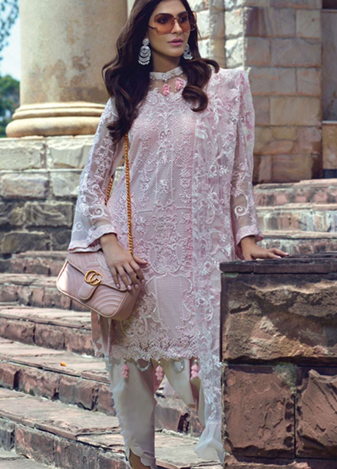 e6b3de0eb4 Rang Rasiya Embroidered Chiffon Unstitched 3 Piece Suit RR19E 5017 - Eid  Collection