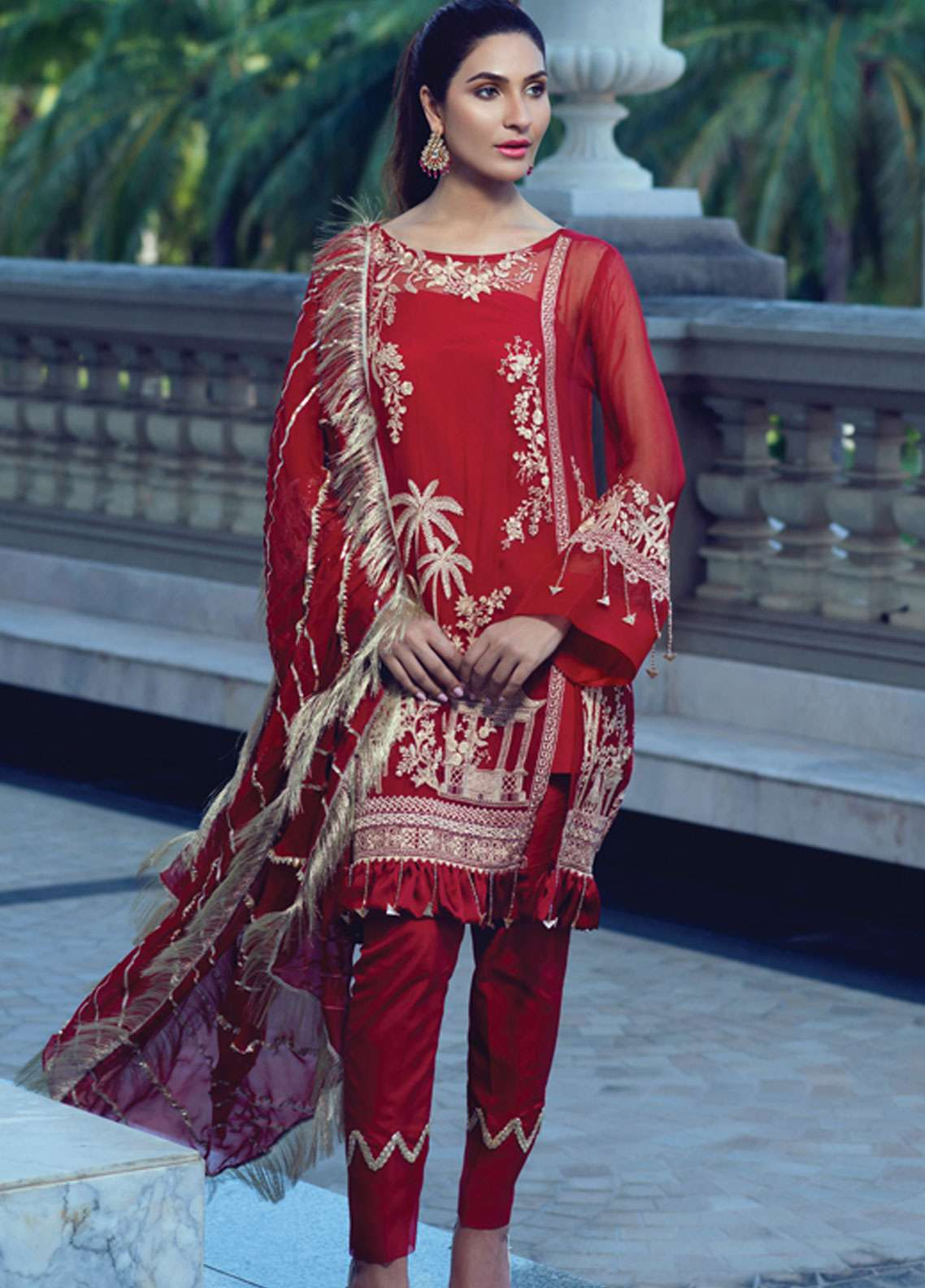 546e47f41a Rang Rasiya Embroidered Chiffon Unstitched 3 Piece Suit RR19E 5018 - Eid  Collection