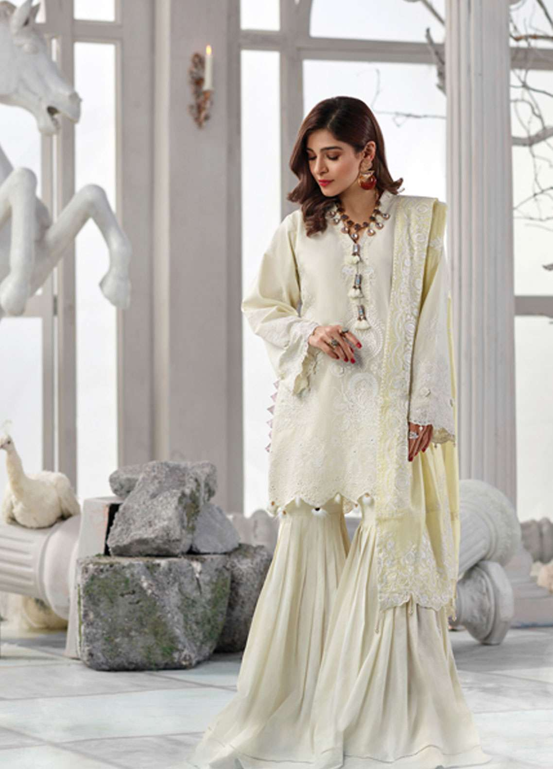 Rang Rasiya Embroidered Lawn Unstitched 3 Piece Suit RR19L 5007A - Spring / Summer Collection