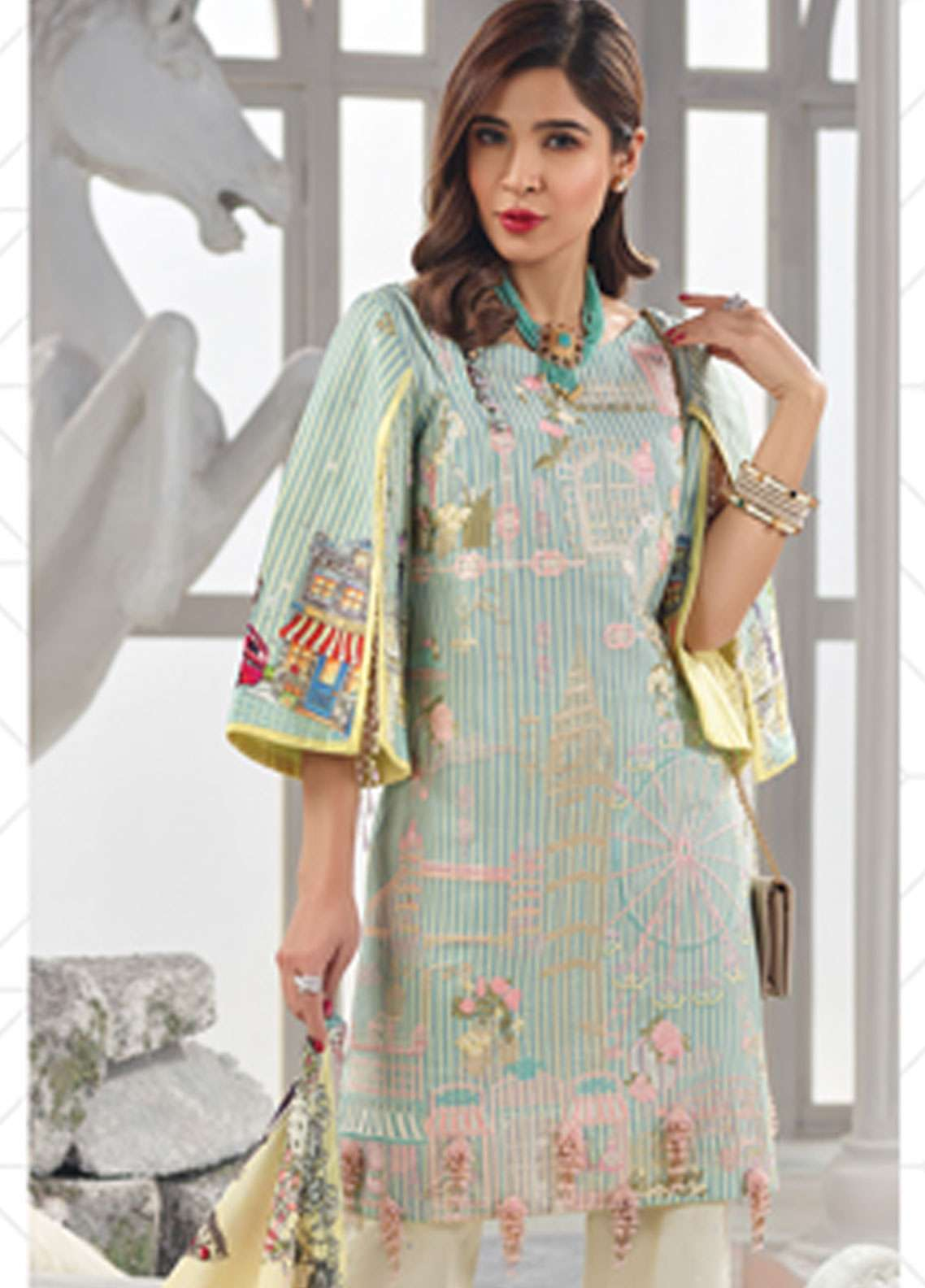 Rang Rasiya Embroidered Lawn Unstitched 3 Piece Suit RR19L 5009B - Spring / Summer Collection