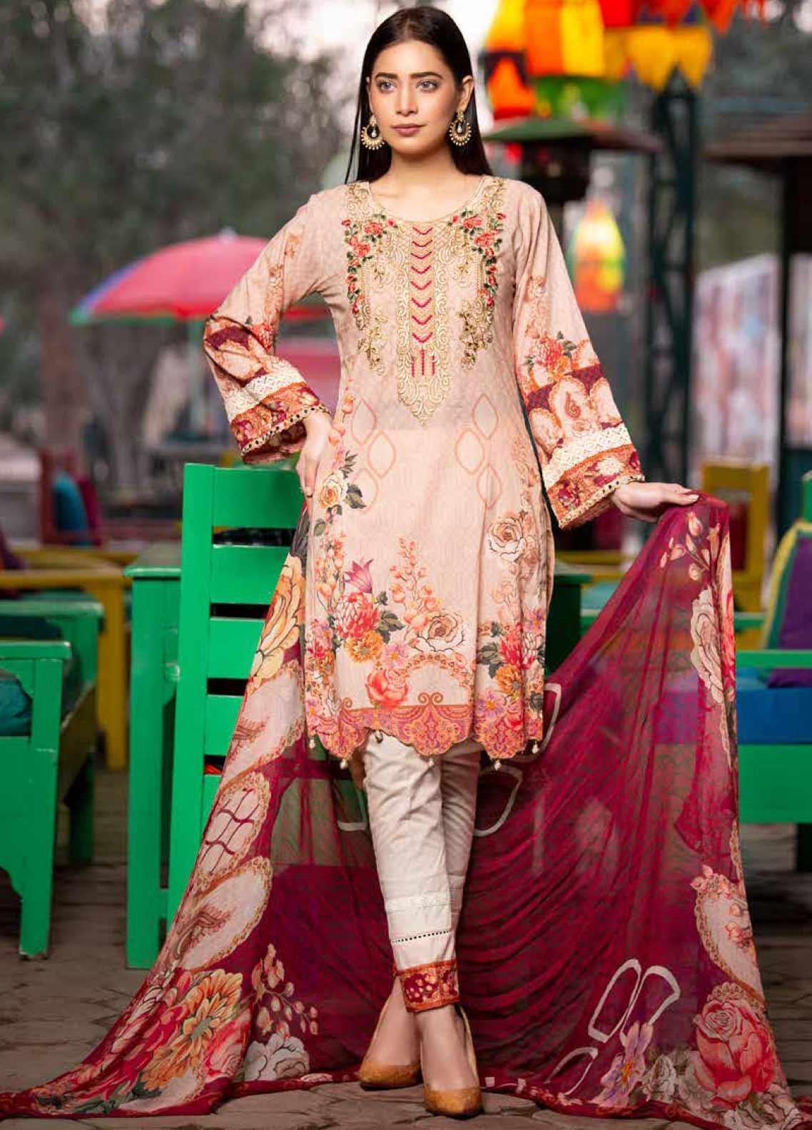 Rangoli by Shamira Embroidered Lawn Unstitched 3 Piece Suit SHR20N 2 - Summer Collection