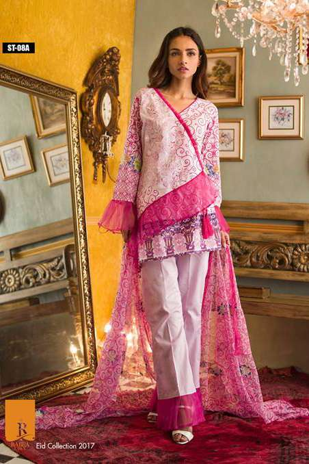 Rabea By Shariq Textiles Embroidered Lawn Unstitched 3 Piece Suit RB17E 8A