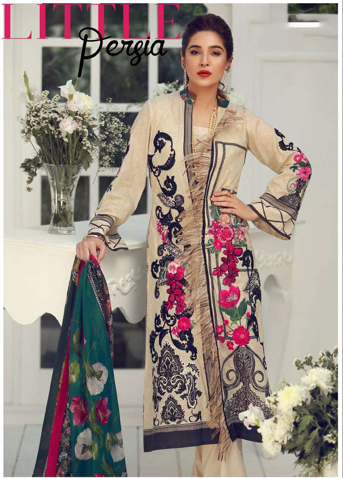 Rouche Embroidered Lawn Unstitched 3 Piece Suit RCH18L 07 - Spring / Summer Collection