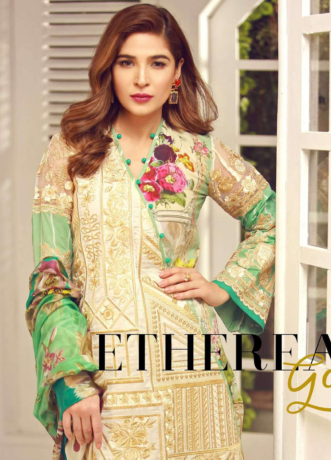 Rouche Embroidered Lawn Unstitched 3 Piece Suit RCH18L 09 - Spring / Summer Collection