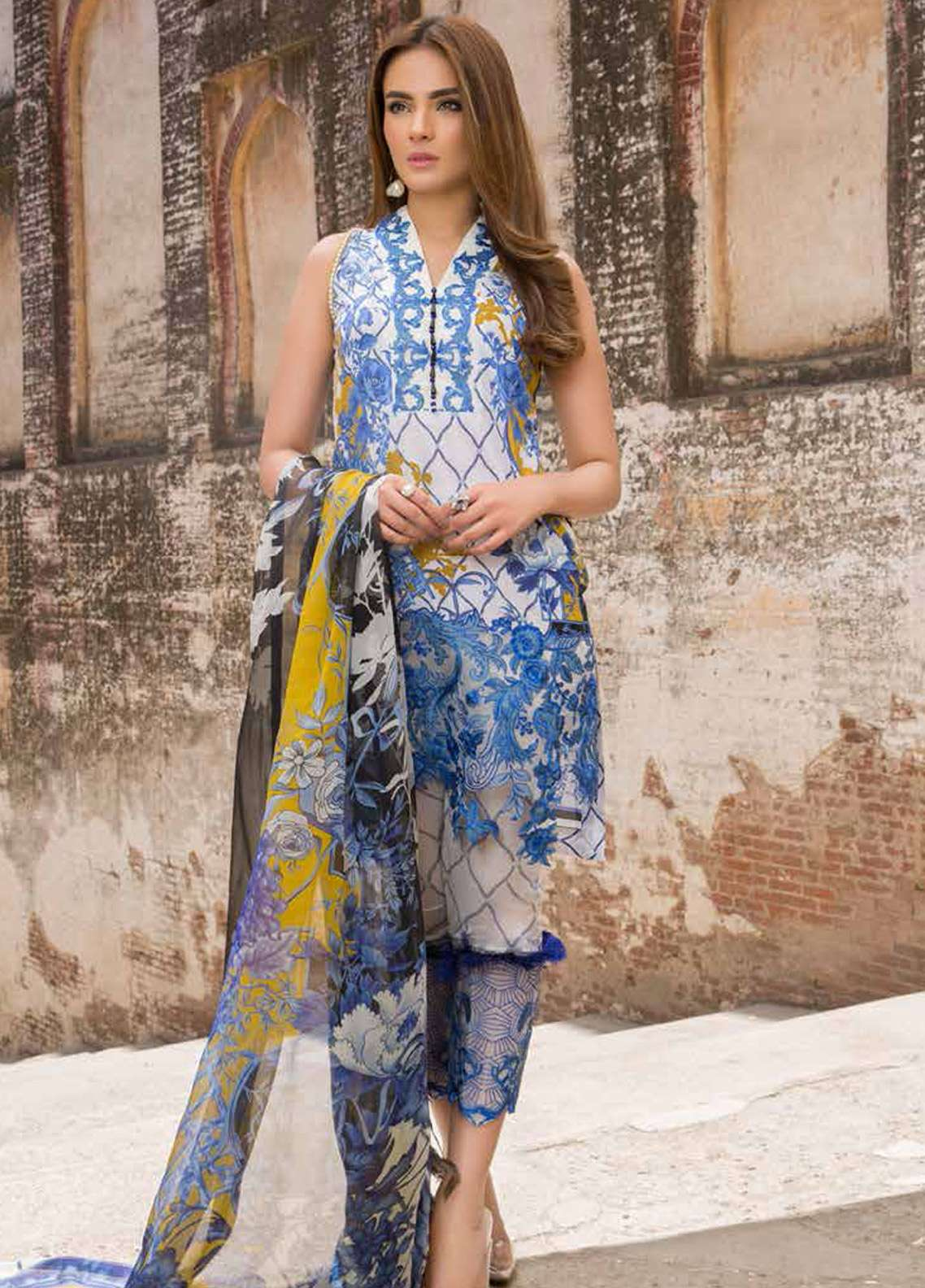 Rani Emaan Embroidered Lawn Unstitched 3 Piece Suit RE18L 02 - Festive Collection