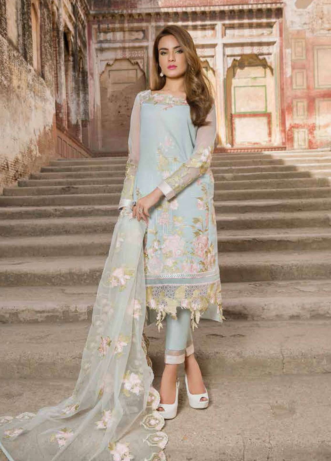 be5a588736 Rani Emaan Embroidered Lawn Unstitched 3 Piece Suit RE18L 07 - Festive  Collection