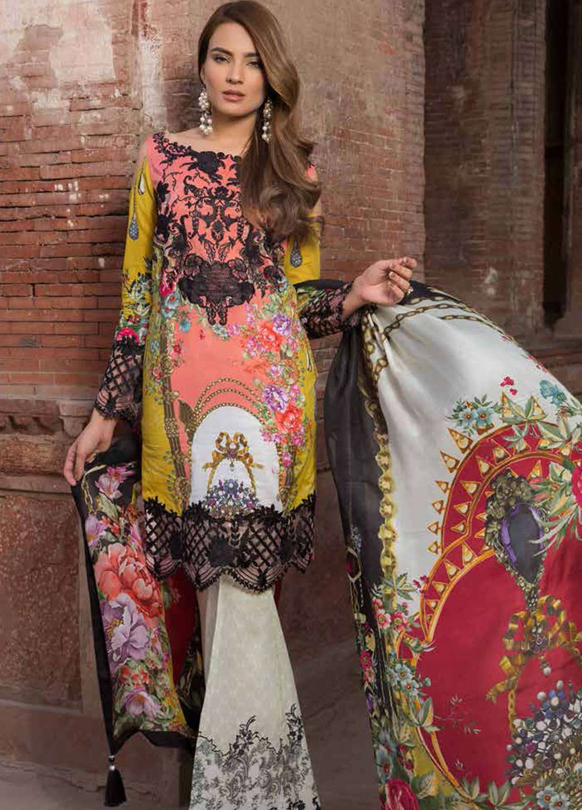 Rani Emaan Embroidered Lawn Unstitched 3 Piece Suit RE18L 10 - Festive Collection