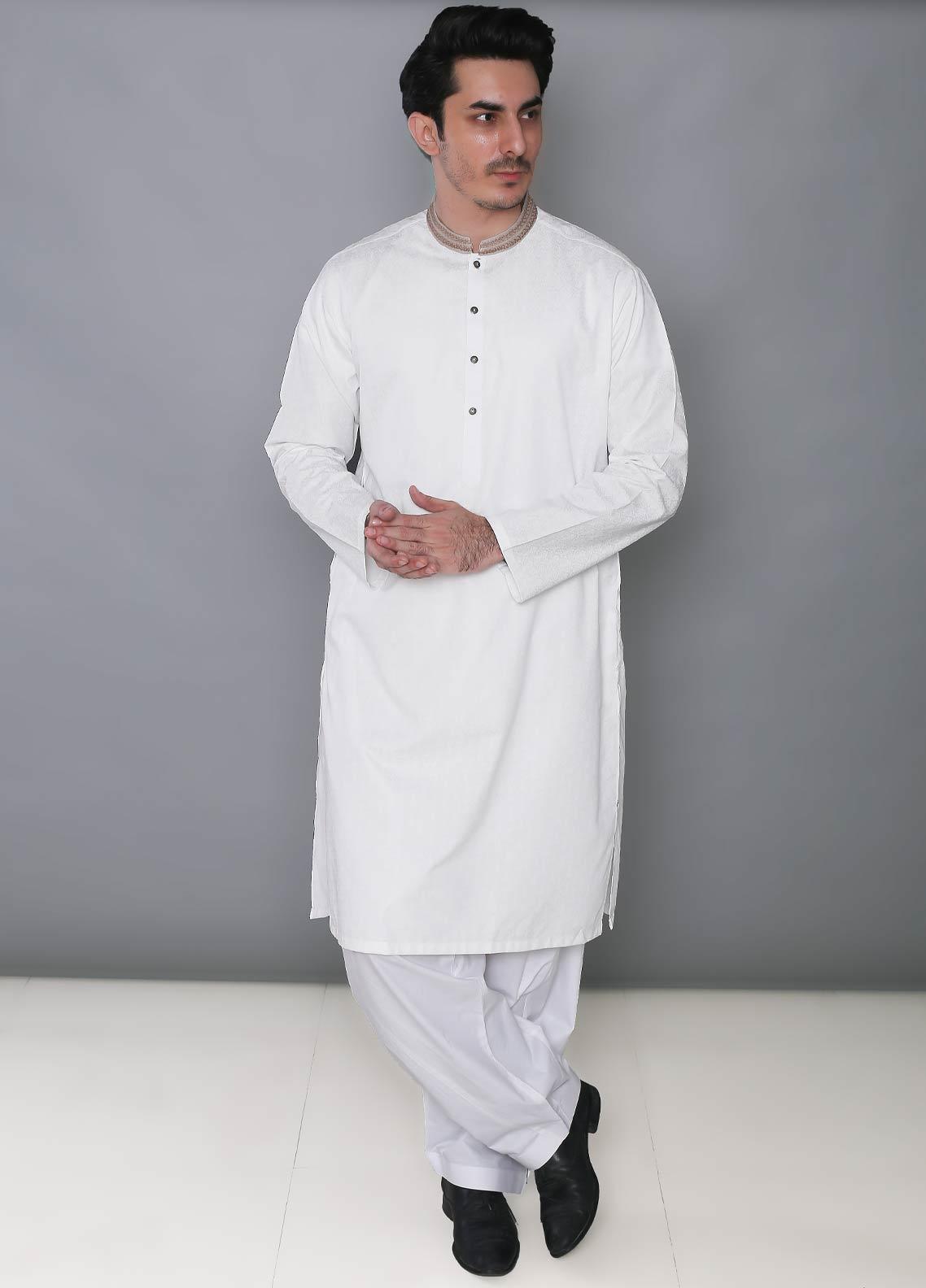 Real Image Cotton Formal Kurtas for Men -  392 Off White
