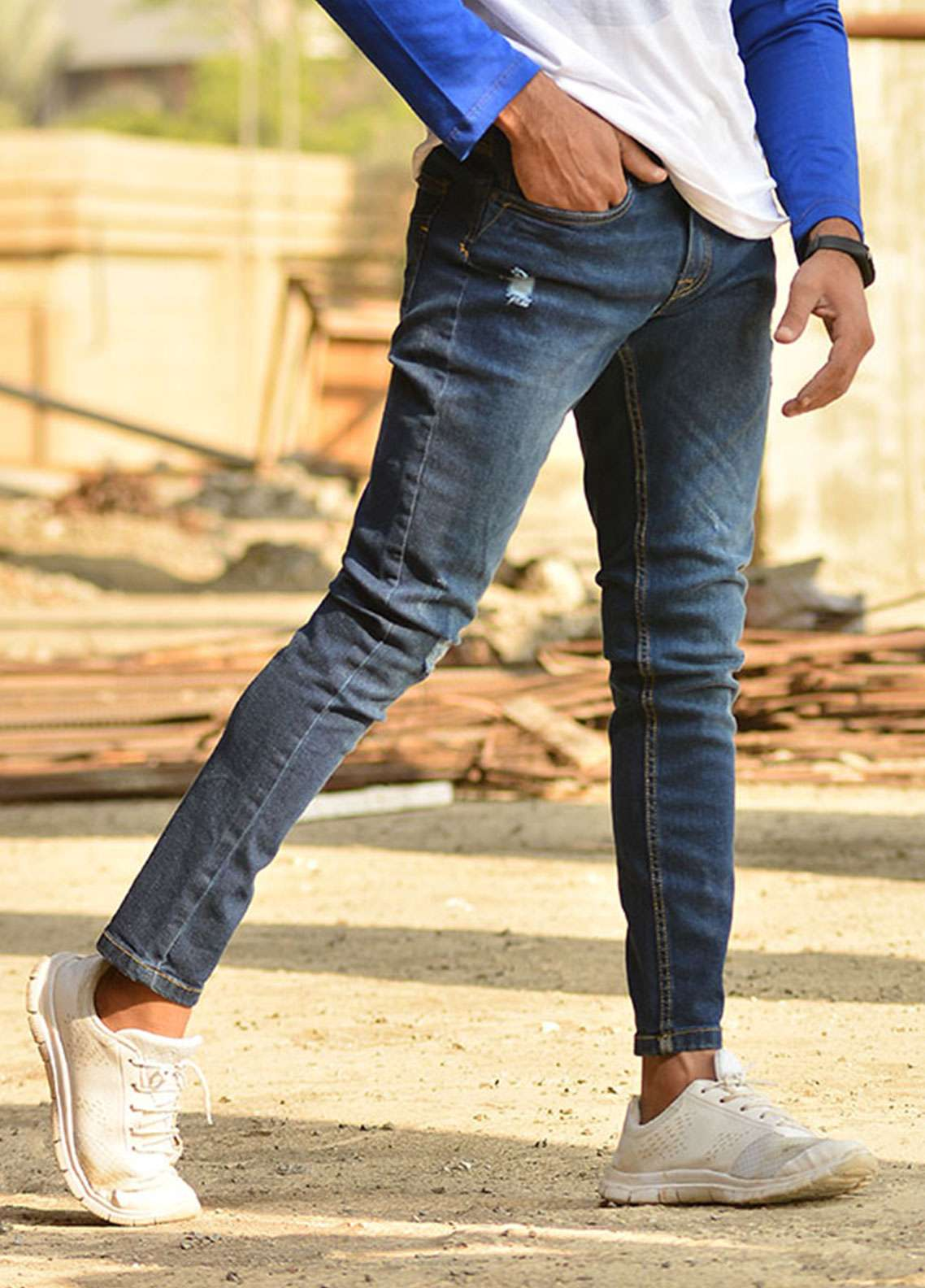 Red Tree Denim Casual Jeans for Men - Blue RTP165