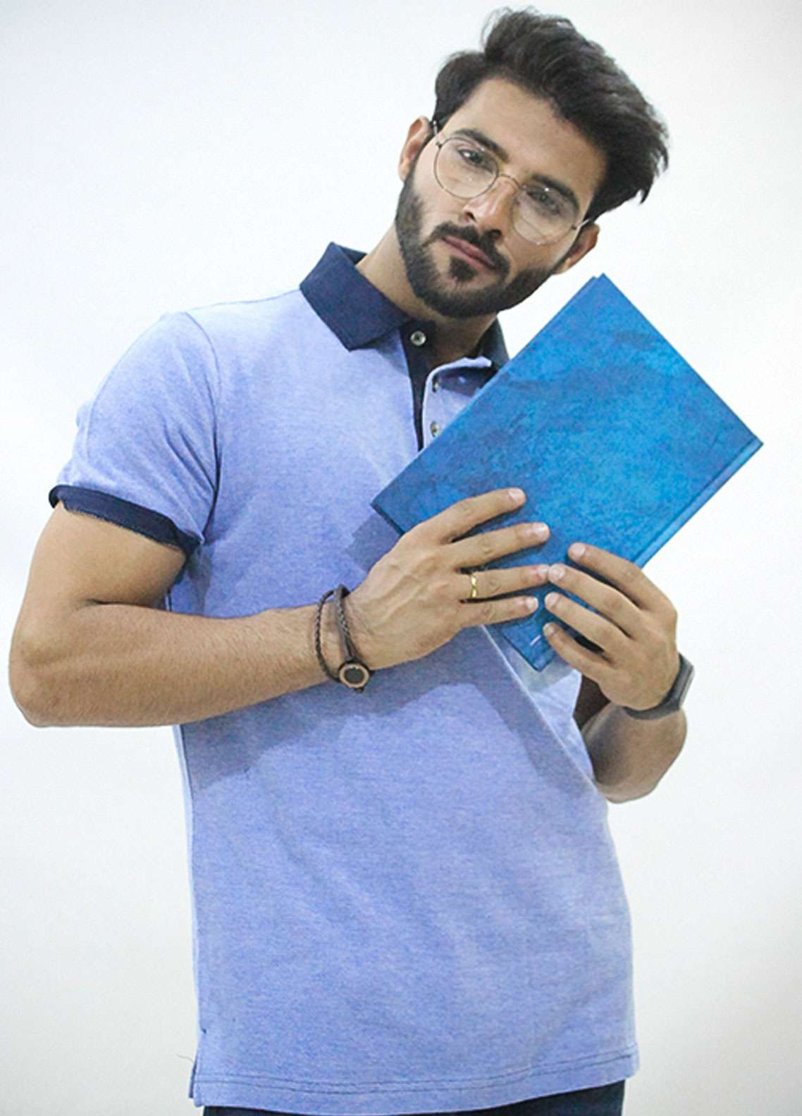 Red Tree Jersey Polo T-Shirts for Men - Blue RT1577