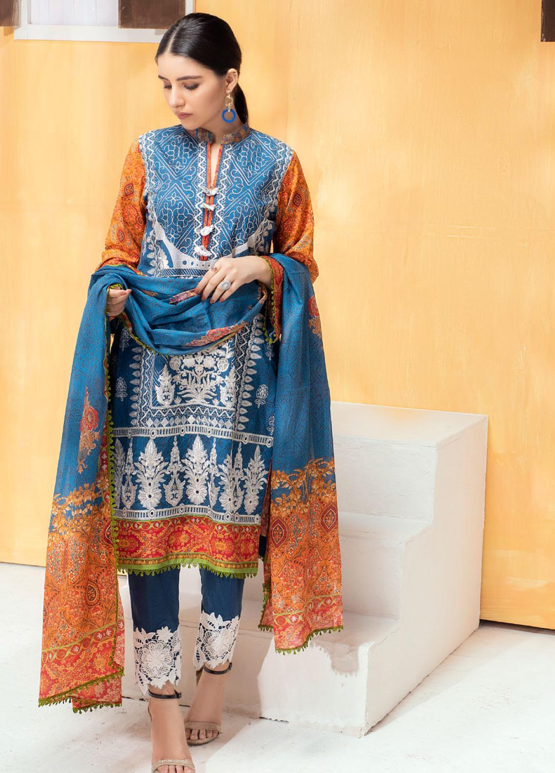 Regalia Textiles Embroidered Lawn Unstitched 3 Piece Suit RG20D-3 3 - Spring / Summer Collection