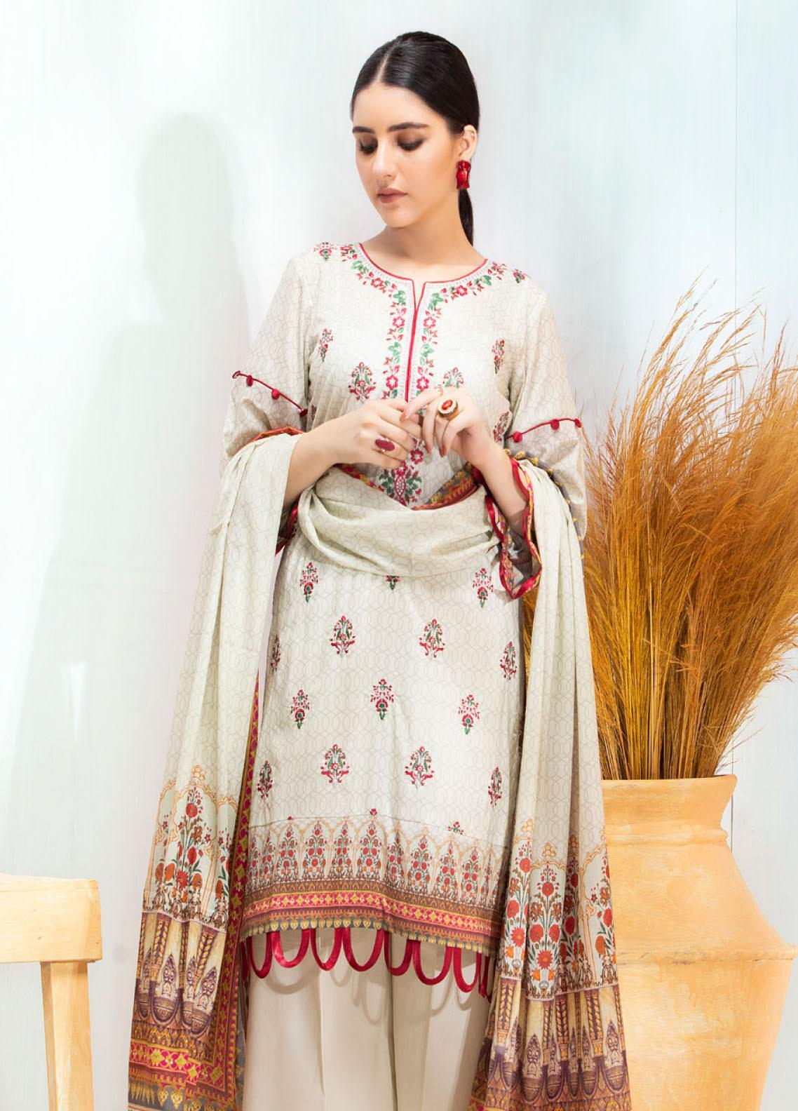 Regalia Textiles Embroidered Lawn Unstitched 3 Piece Suit RG20D-3 6 - Spring / Summer Collection
