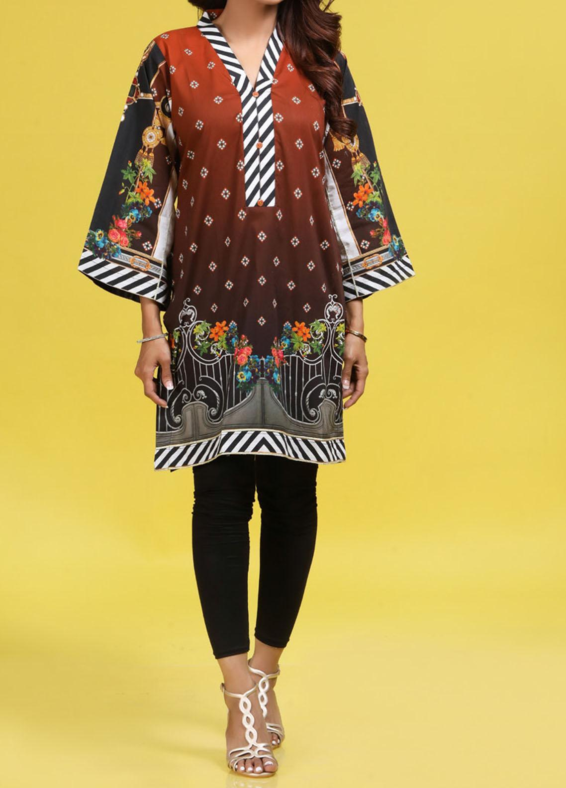 Regalia Textiles Printed Lawn Unstitched Kurties RG20T 4 D-03 - Spring / Summer Collection