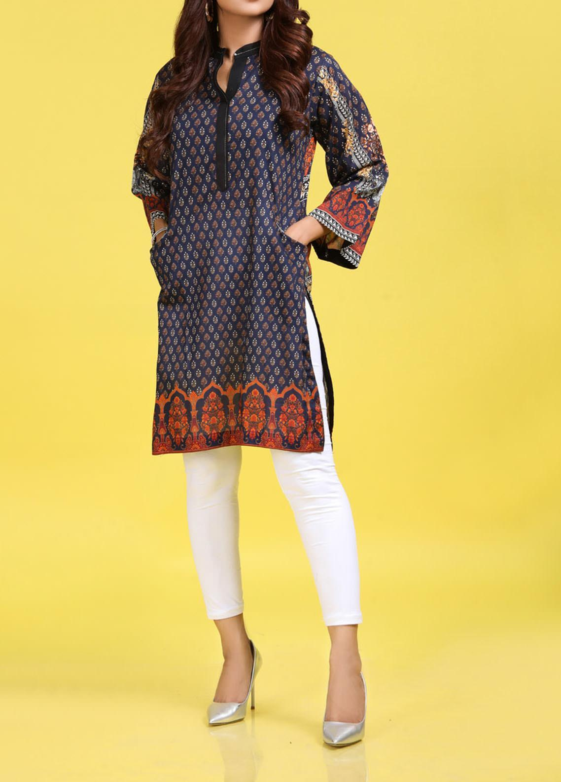 Regalia Textiles Printed Lawn Unstitched Kurties RG20T 4 D-04 - Spring / Summer Collection