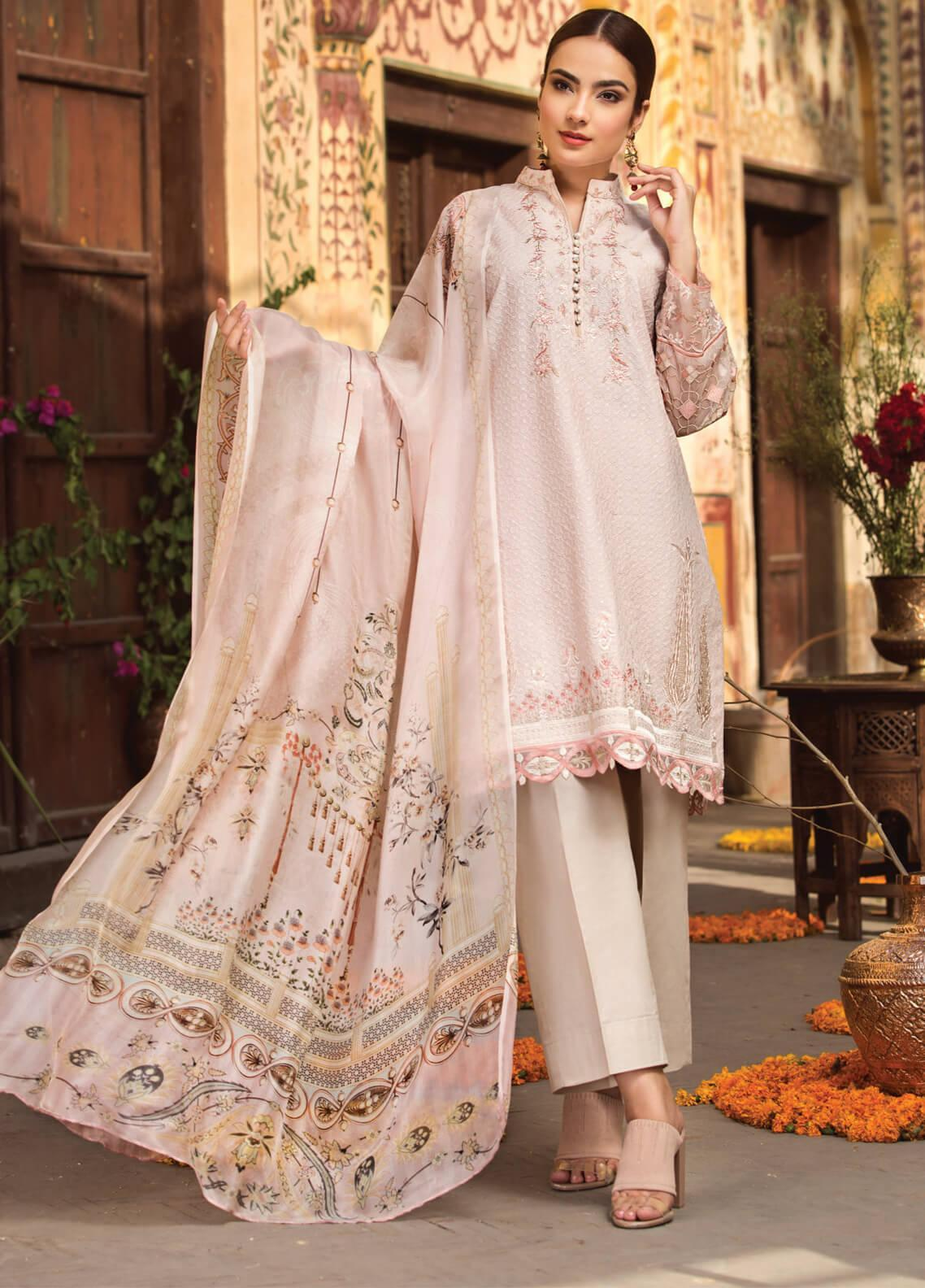 Resham Ghar Embroidered Lawn Unstitched 3 Piece Suit RG19S 03 - Spring / Summer Collection