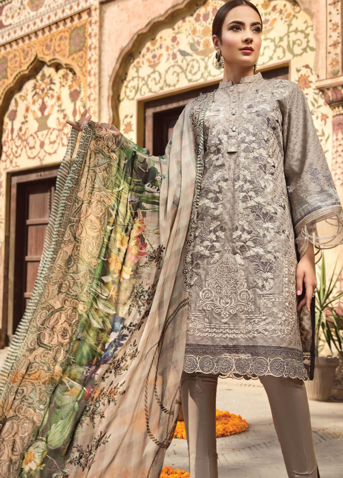 Resham Ghar Embroidered Lawn Unstitched 3 Piece Suit RG19S 04 - Spring / Summer Collection
