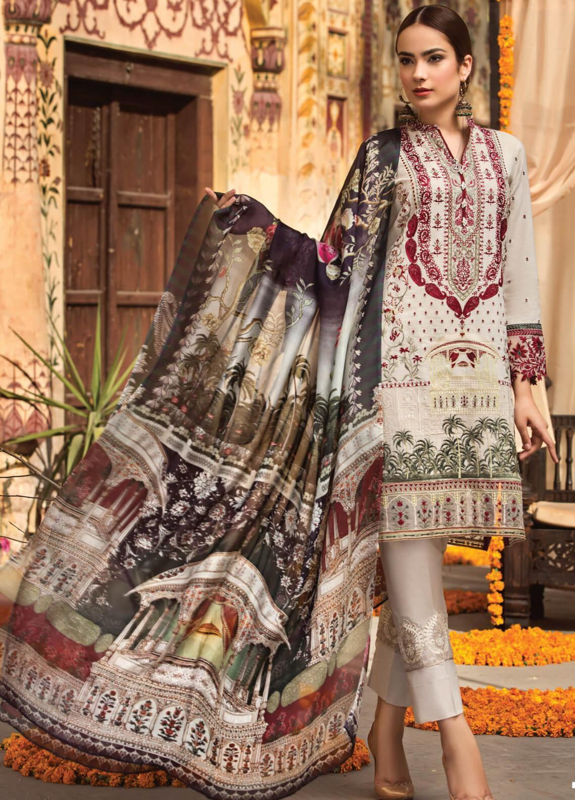 a3b89b3740 Resham Ghar Embroidered Lawn Unstitched 3 Piece Suit RG19S 05 - Spring /  Summer Collection