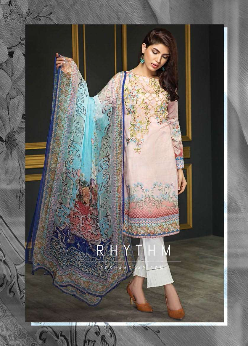 Resham Ghar Embroidered Lawn Unstitched 3 Piece Suit RG17E2 01