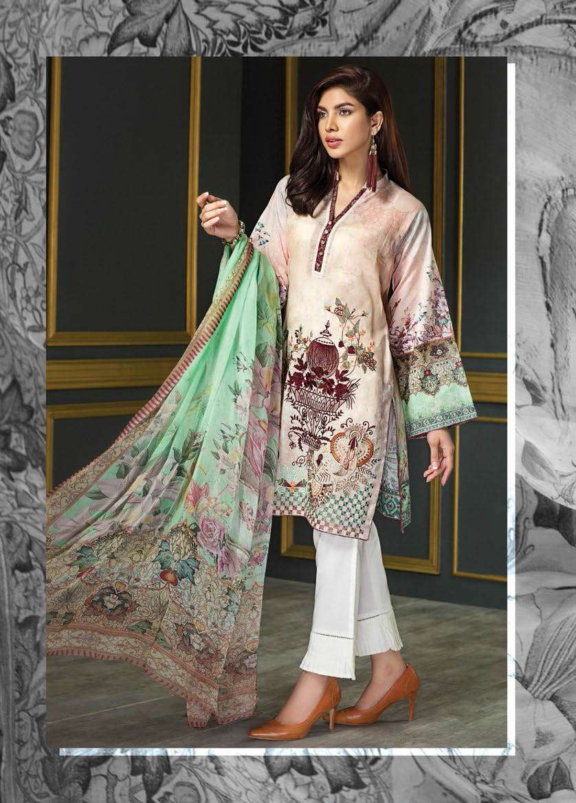 Resham Ghar Embroidered Lawn Unstitched 3 Piece Suit RG17E2 02