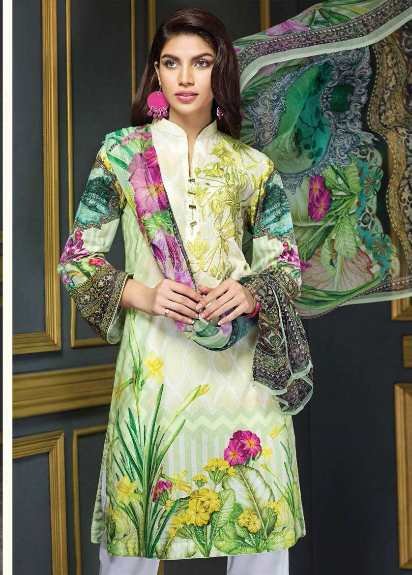 Resham Ghar Embroidered Lawn Unstitched 3 Piece Suit RG17E2 05