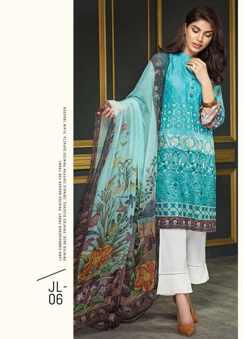 Resham Ghar Embroidered Lawn Unstitched 3 Piece Suit RG17E2 06