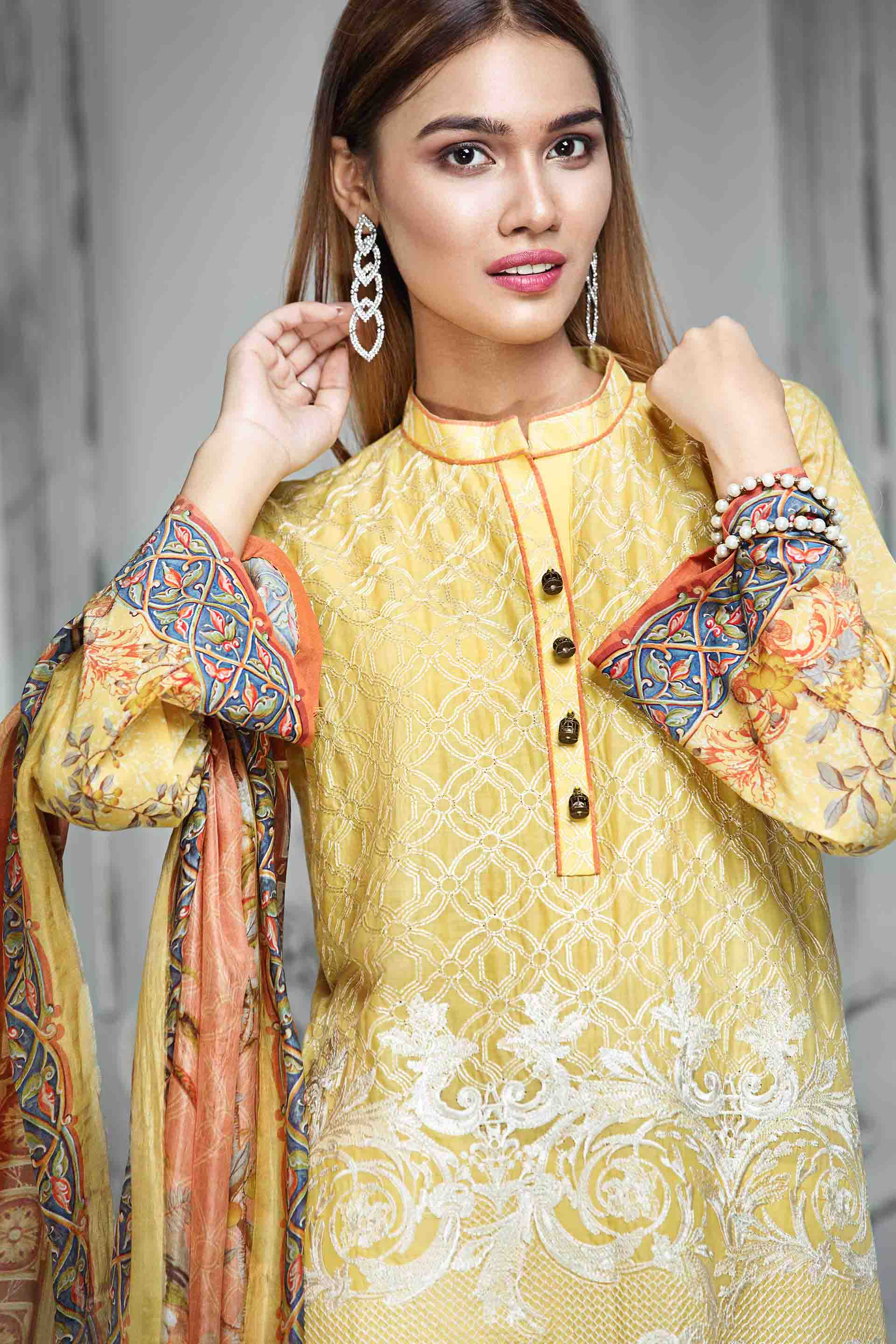 Resham Ghar Embroidered Lawn Unstitched 3 Piece Suit RG17E 03