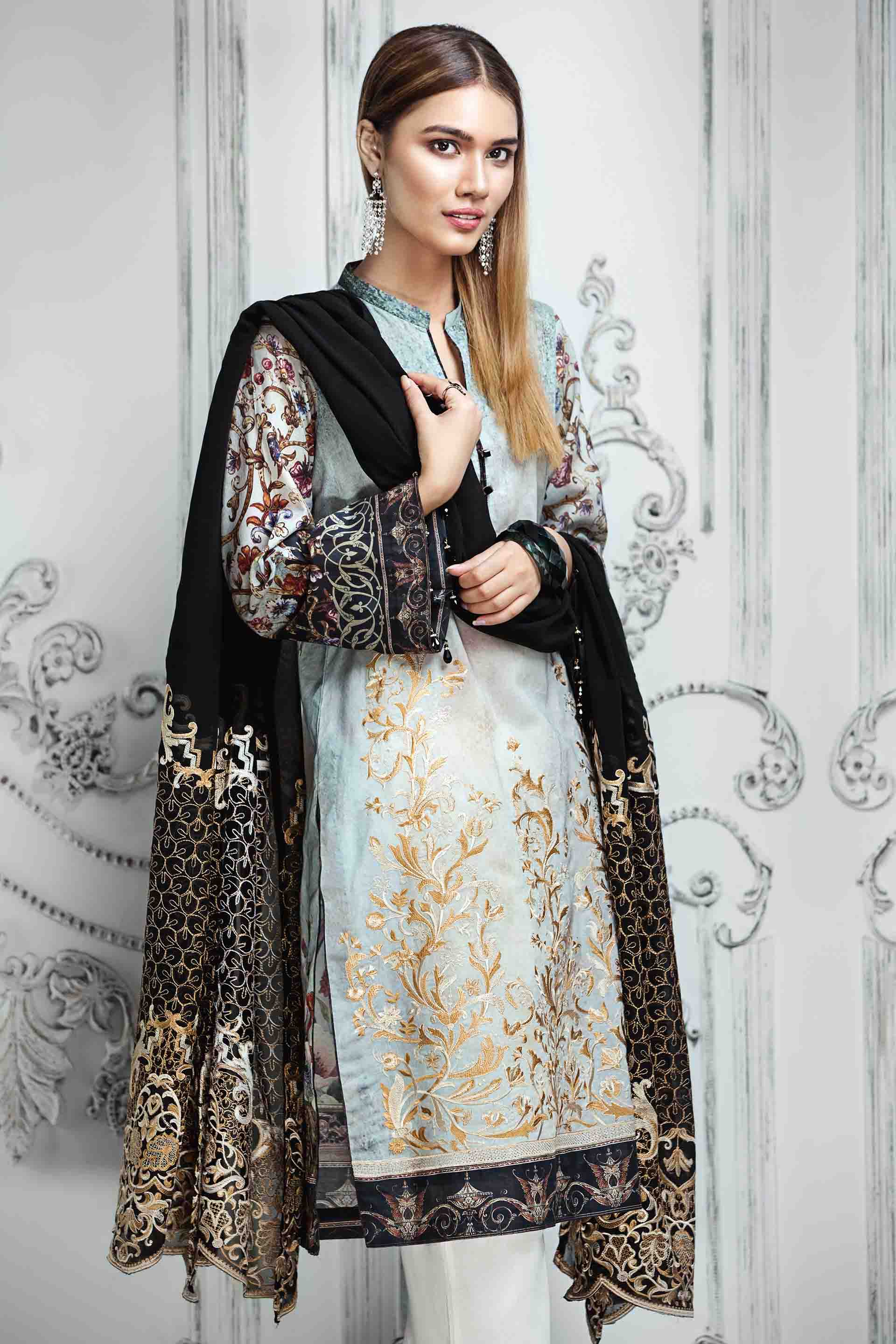 Resham Ghar Embroidered Lawn Unstitched 3 Piece Suit RG17E 04