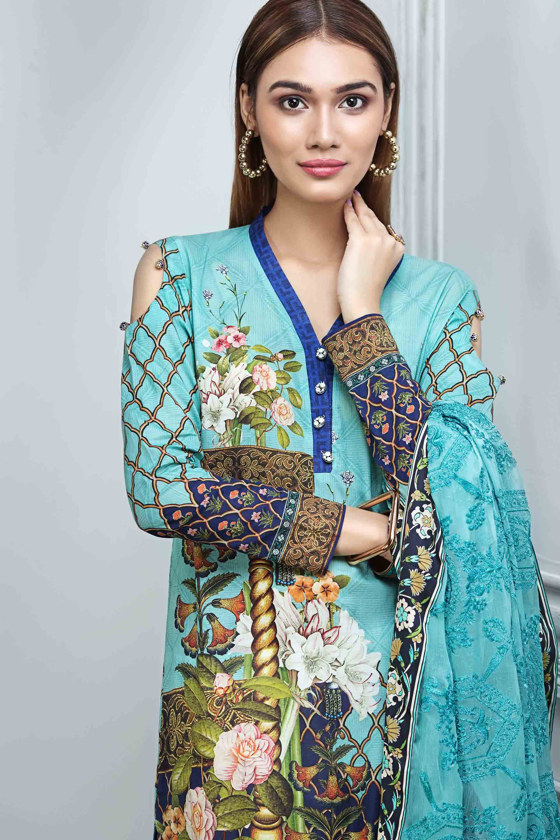 Resham Ghar Embroidered Lawn Unstitched 3 Piece Suit RG17E 05