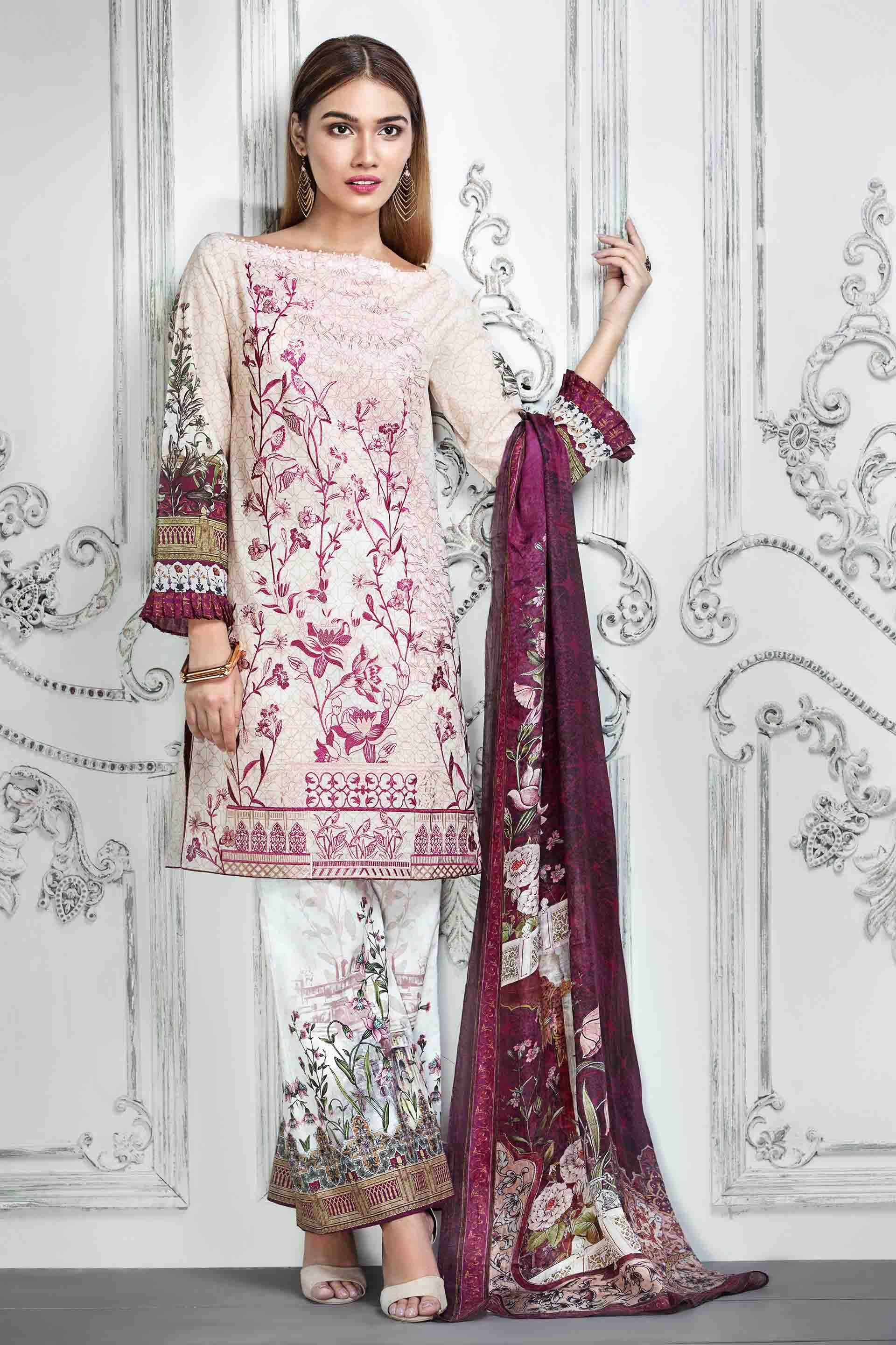 Resham Ghar Embroidered Lawn Unstitched 3 Piece Suit RG17E 06