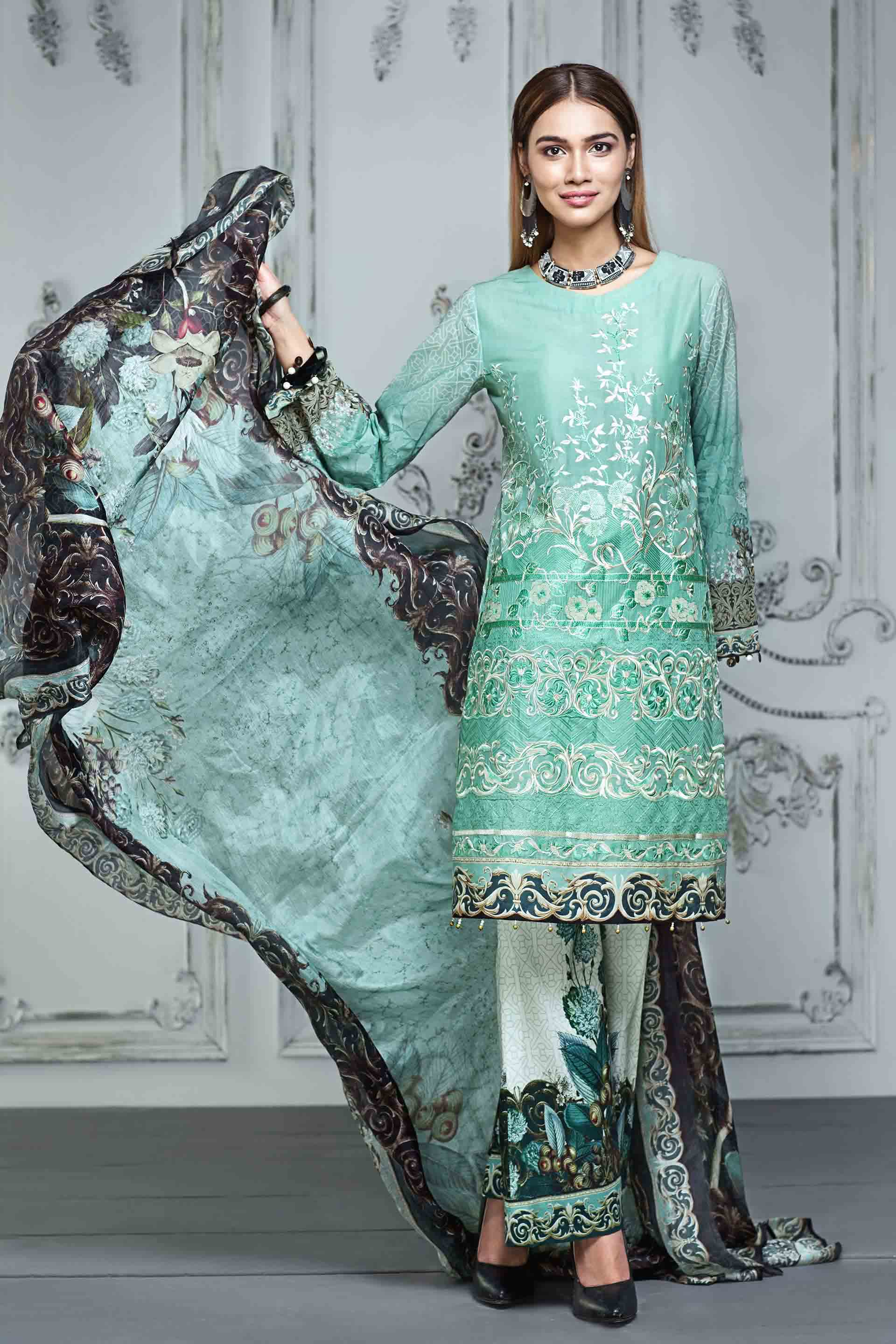 Resham Ghar Embroidered Lawn Unstitched 3 Piece Suit RG17E 08