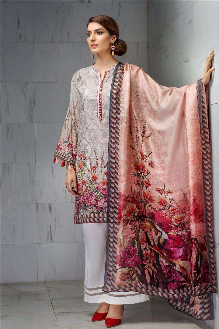Resham Ghar Embroidered Lawn Unstitched 3 Piece Suit RG17L 01