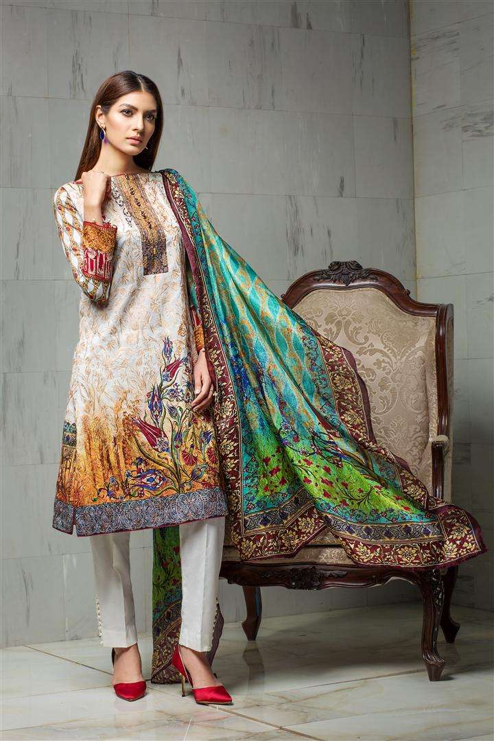 Resham Ghar Embroidered Lawn Unstitched 3 Piece Suit RG17L 06