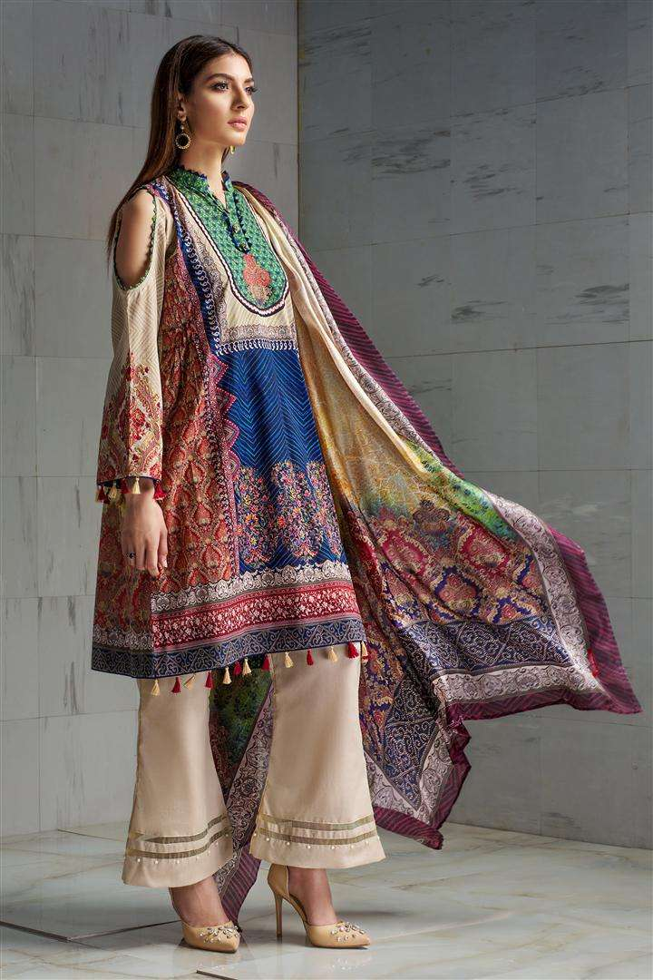 Resham Ghar Embroidered Lawn Unstitched 3 Piece Suit RG17L 07