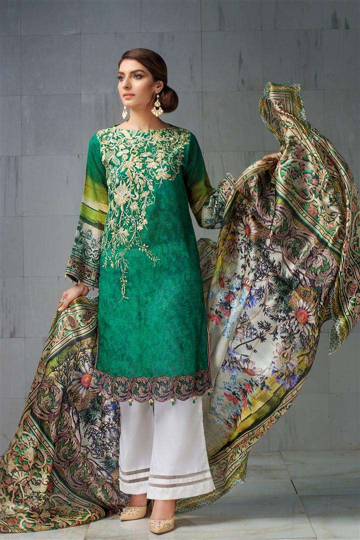 Resham Ghar Embroidered Lawn Unstitched 3 Piece Suit RG17L 2A