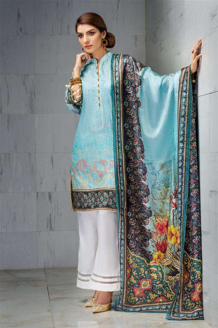 Resham Ghar Embroidered Lawn Unstitched 3 Piece Suit RG17L 3A