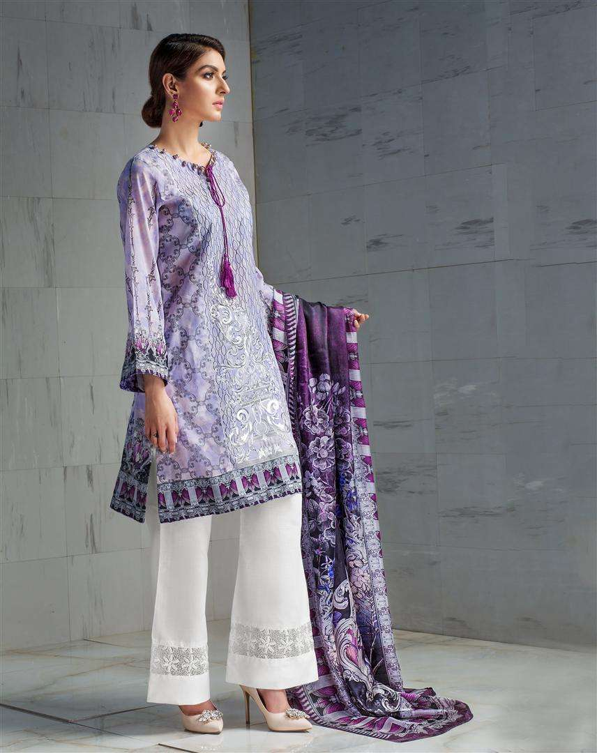 Resham Ghar Embroidered Lawn Unstitched 3 Piece Suit RG17L 9B