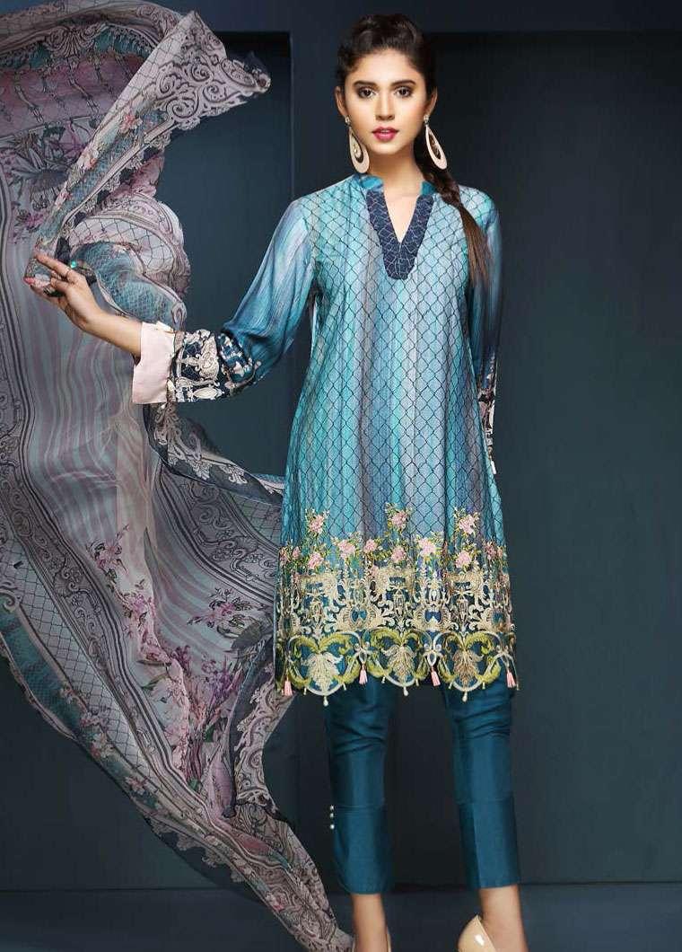 Resham Ghar Embroidered Viscose Unstitched 3 Piece Suit RG17W 06