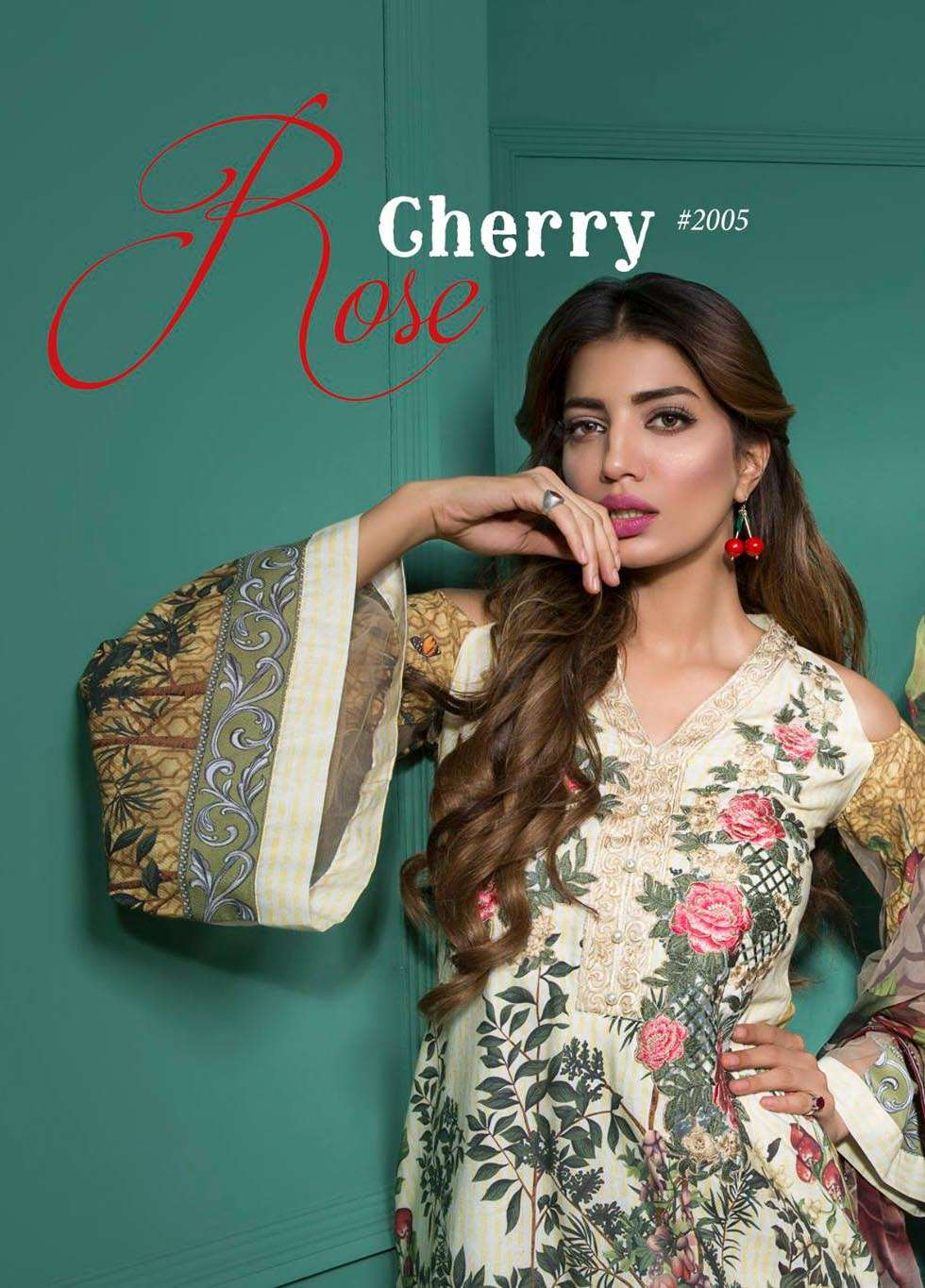 Rang Rasiya Embroidered Lawn Unstitched 3 Piece Suit RGR17E3 Gerry Rose A