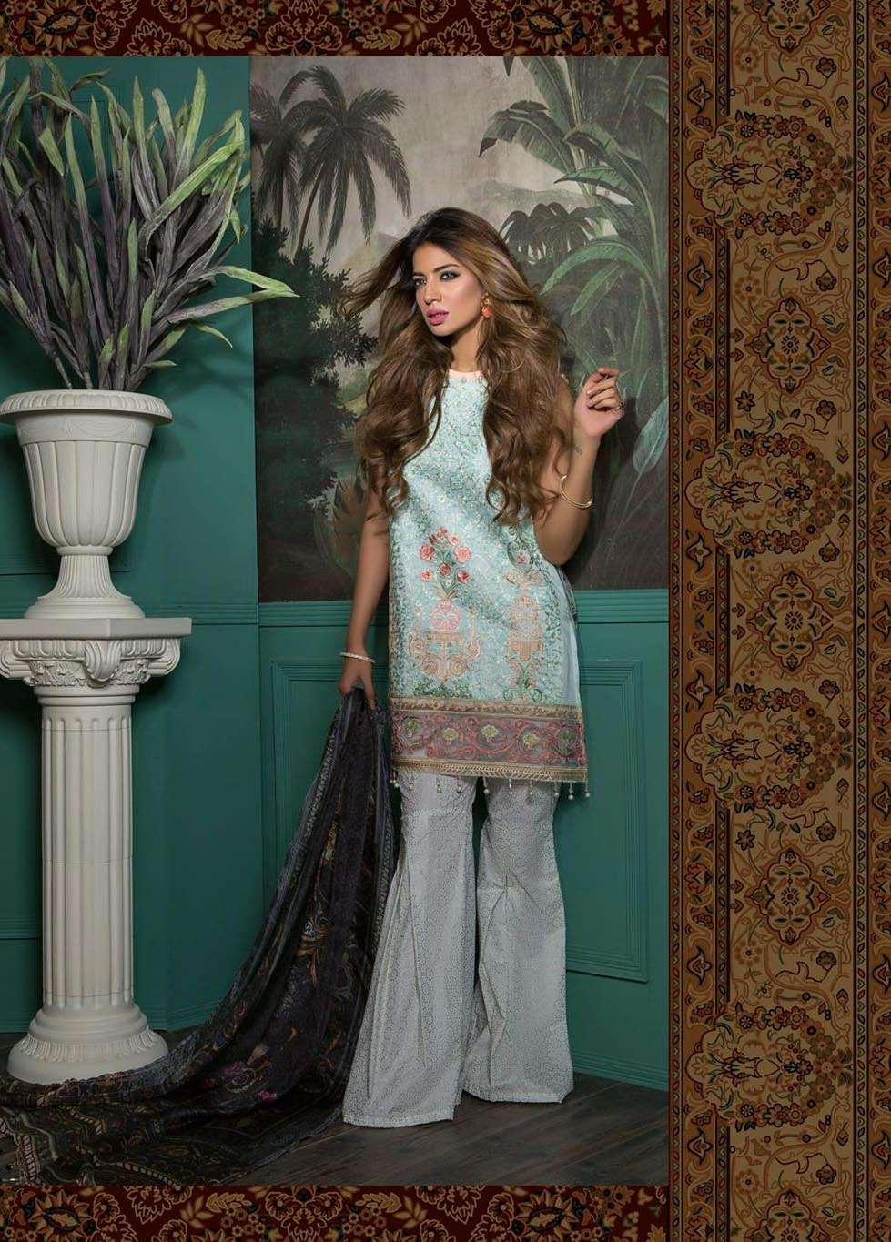 Rang Rasiya Embroidered Lawn Unstitched 3 Piece Suit RGR17E3 Miniature Mughal A