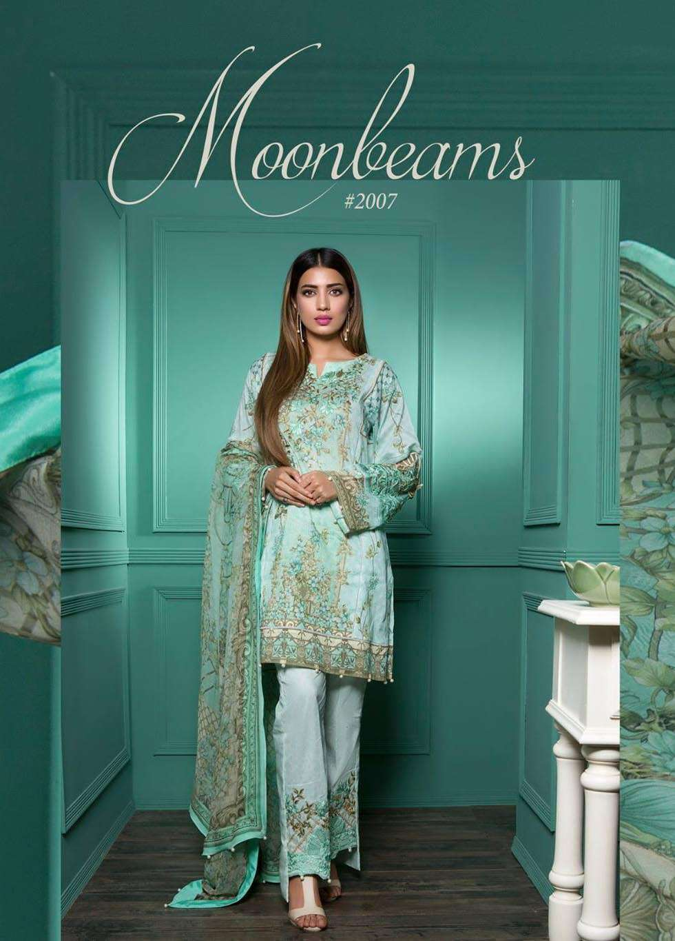 Rang Rasiya Embroidered Lawn Unstitched 3 Piece Suit RGR17E3 Moonbeams B