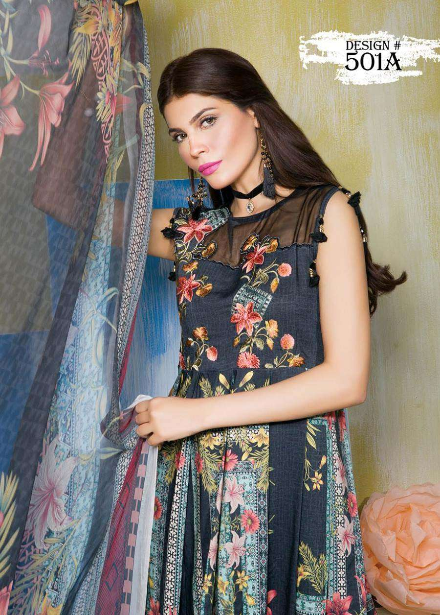 Rang Rasiya Embroidered Linen Unstitched 3 Piece Suit RGR17W 501A