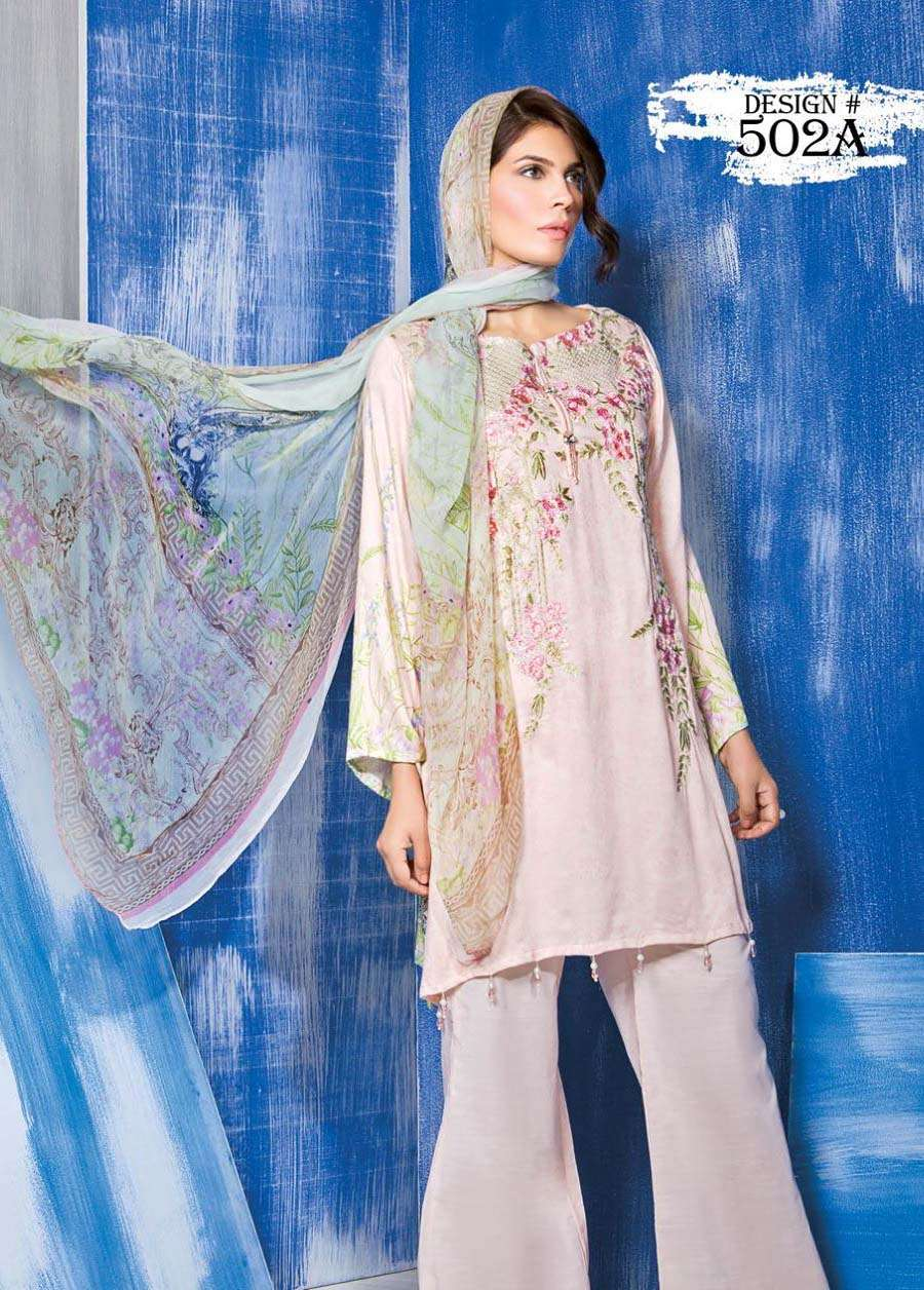 Rang Rasiya Embroidered Linen Unstitched 3 Piece Suit RGR17W 502A