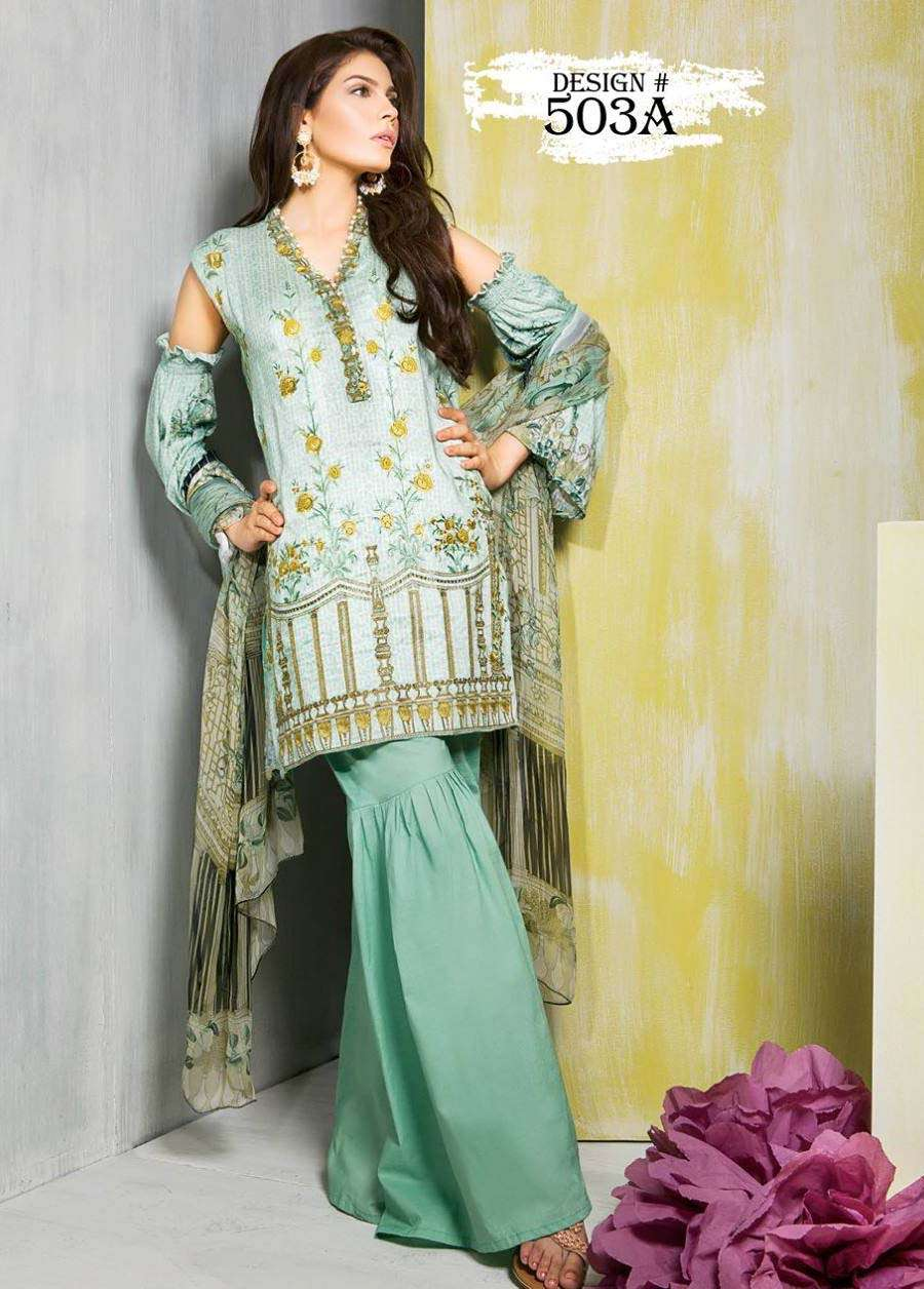 Rang Rasiya Embroidered Linen Unstitched 3 Piece Suit RGR17W 503A