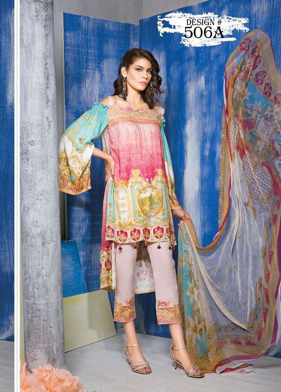Rang Rasiya Embroidered Linen Unstitched 3 Piece Suit RGR17W 506A