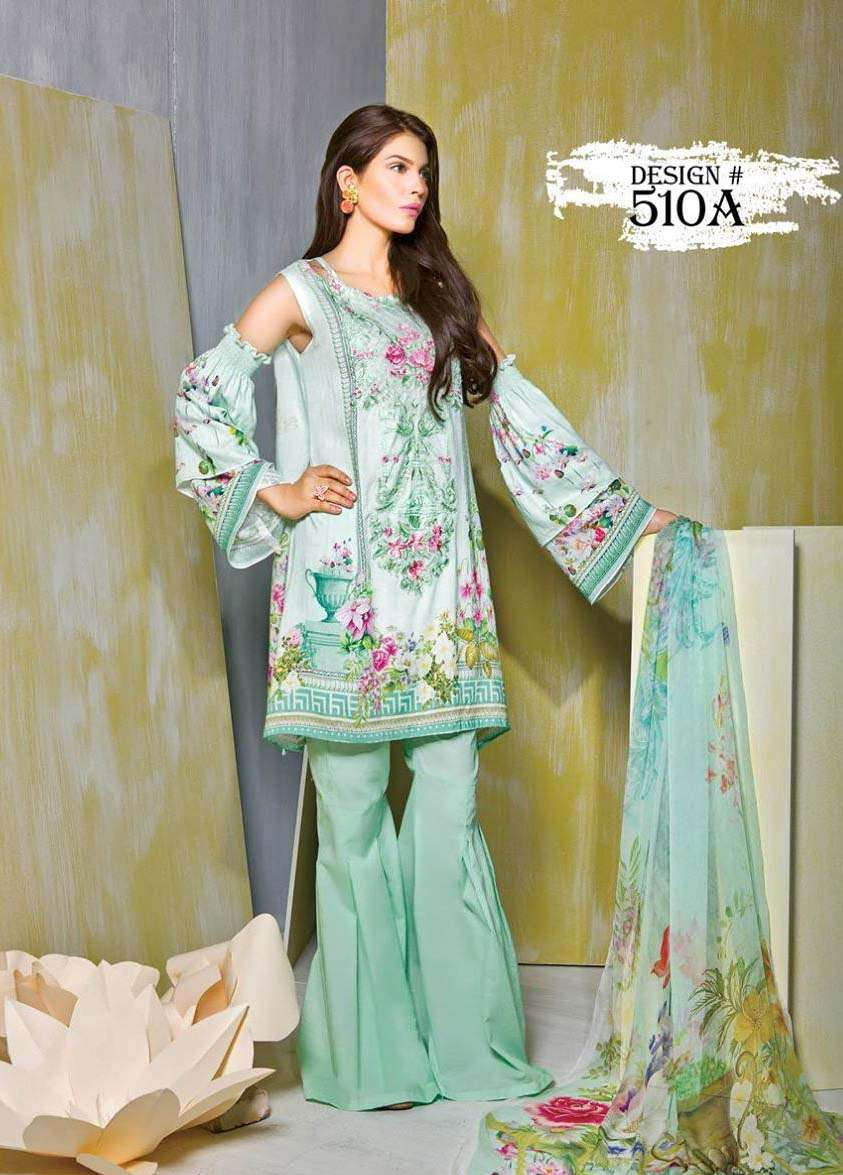 Rang Rasiya Embroidered Linen Unstitched 3 Piece Suit RGR17W 510A